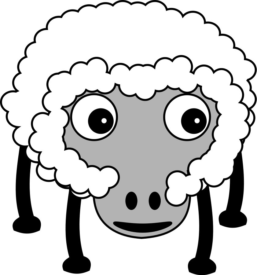 Petroglyph Sheep with internals small clipart 300pixel size, free ...