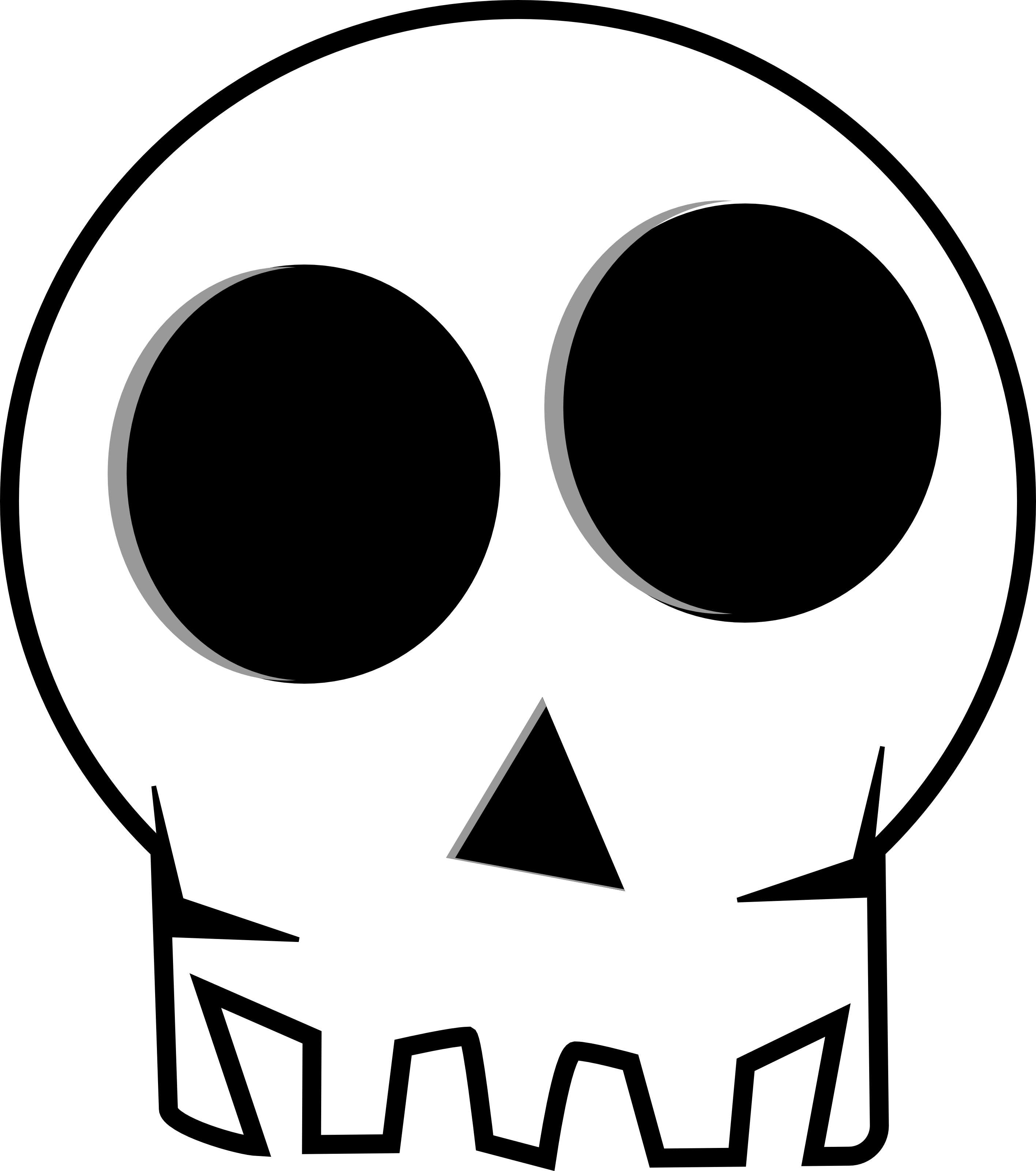 Halloween Skeleton Head Clipart | Clipart Panda - Free Clipart Images