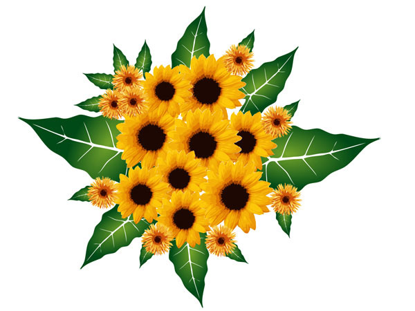 Bouquet Flowers Vector Free | Download Free Vector Graphic Designs ...