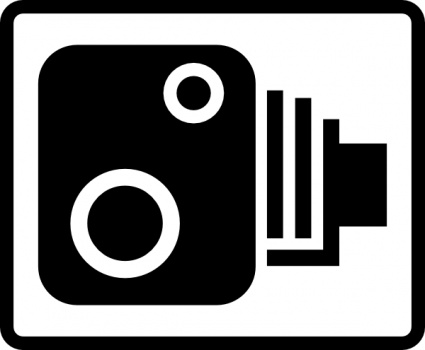 Speed Camera Sign clip art - Download free Other vectors