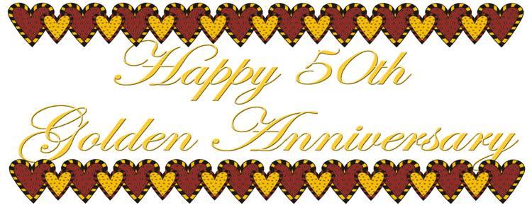 50th Wedding Anniversary Clip Art - ClipArt Best