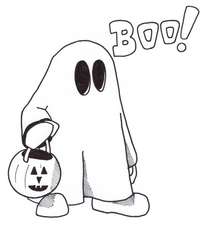 Cartoon Ghost Pictures Clipartsco