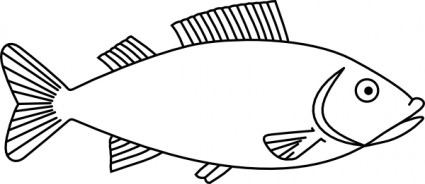 Fish Outline clip art Vector clip art - Free vector for free download