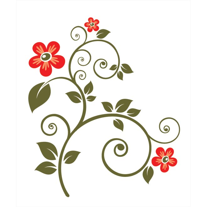 clipart line flower - photo #33