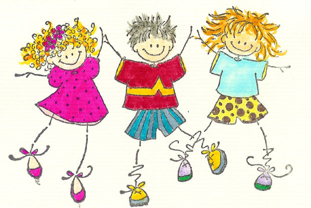 cartoon-children-playing - Yarnton Preschool