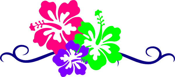Hibiscus Flowers clip art - vector clip art online, royalty free ...