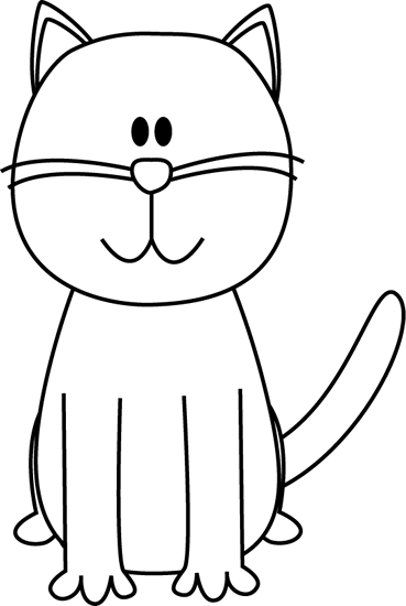 Black And White Cat Clipart - Cliparts.co