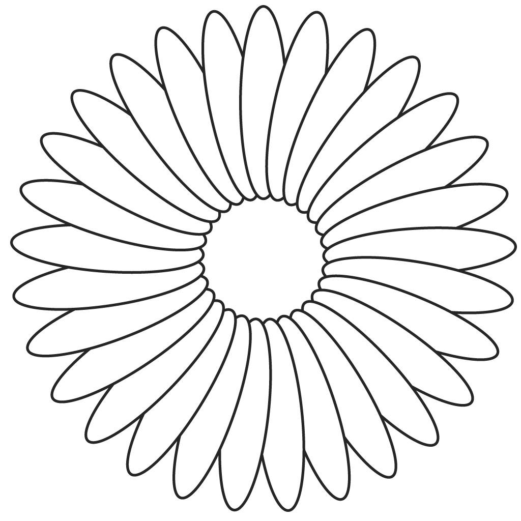 Flower Template To Colour