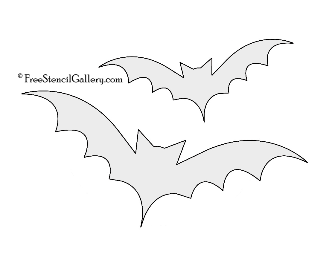 Amazing image for bat stencil printable