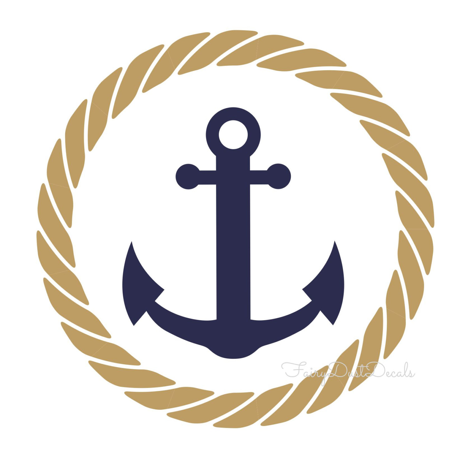 Nautical Rope Clipart on Navy Border Clip Art