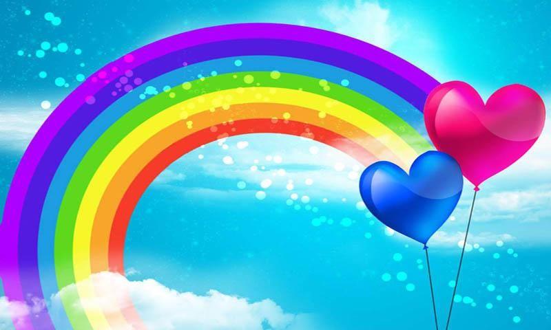 a cartoon rainbow clipartsco