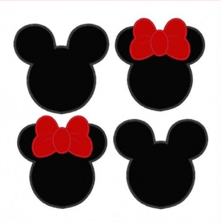 Minnie & Mickey Mouse Silhouettes | BOXES | Pinterest