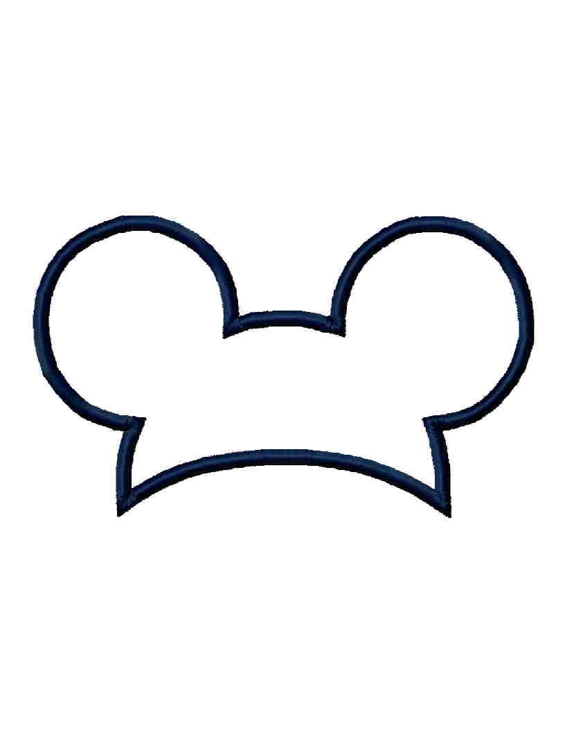 INSTANT Download Mouse Ears hat applique by Institchesembroidery