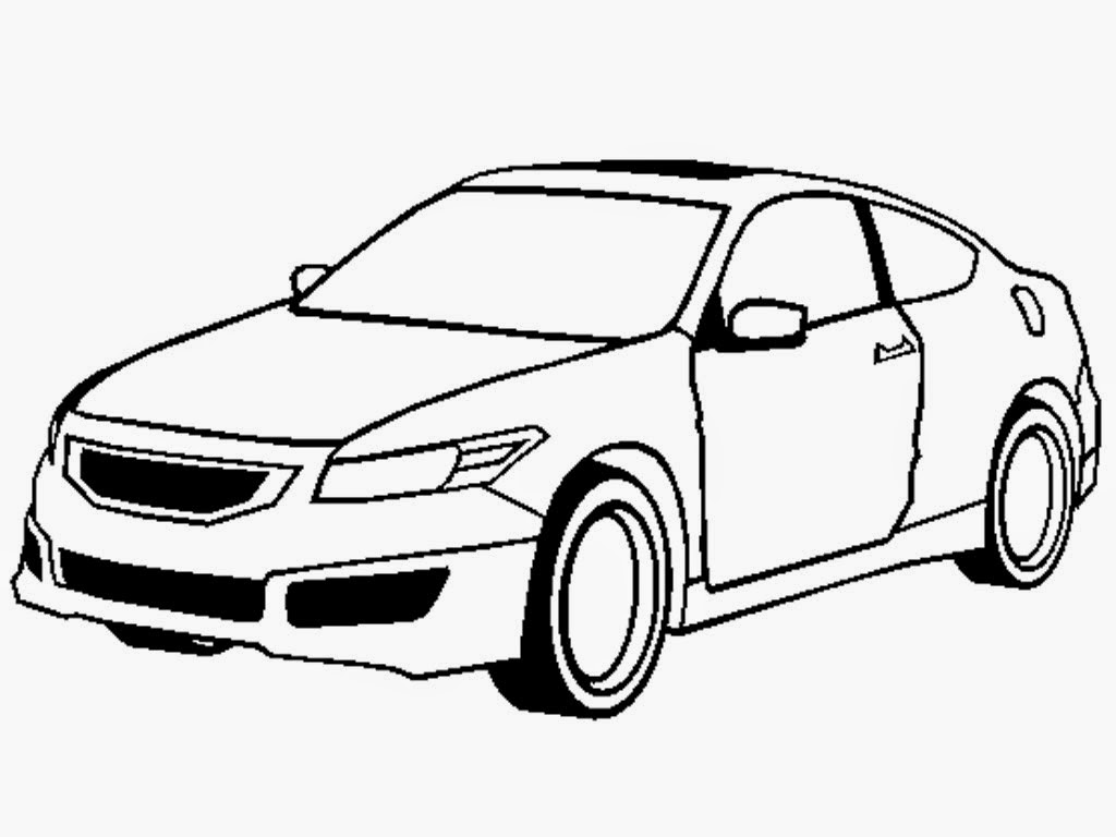 Honda Accord Coupe Mugen Coloring Pages | Realistic Coloring Pages