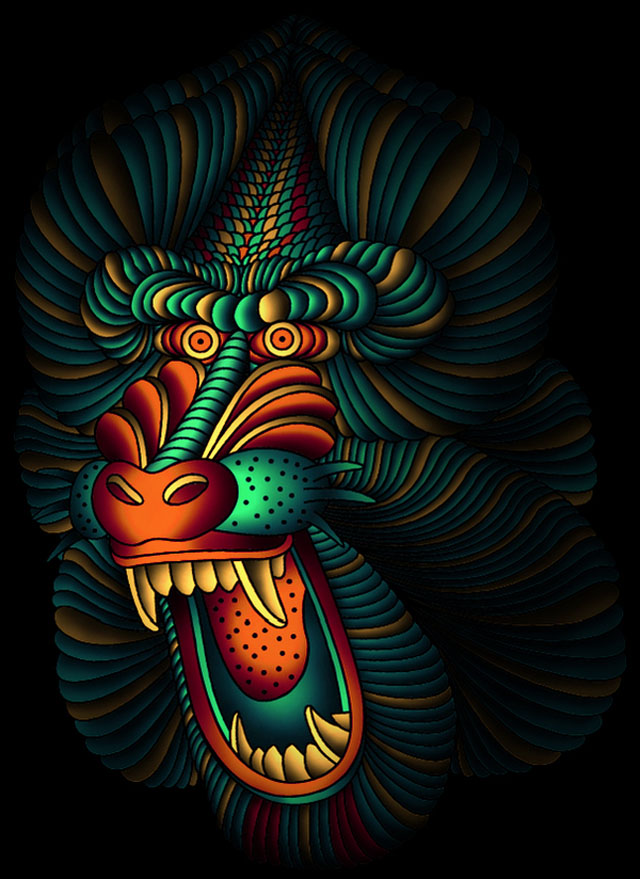 graphic artist illustrations patrick seymour baboon monkey digital draw illustration mandrill clipart illustrator cliparts painting behance inspiration tattoo designer laughterizer