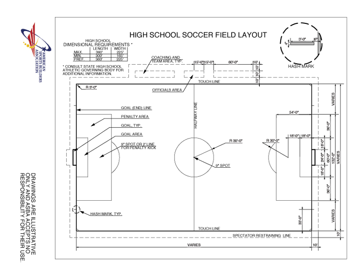 Shocking image with regard to high school football field diagram printable