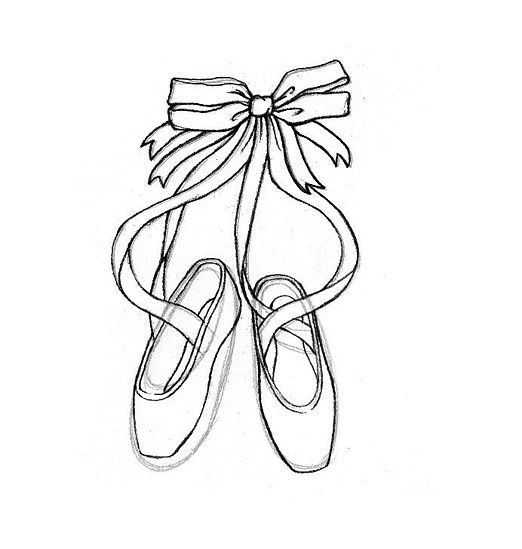 Cartoon ballerina shoes cliparts co