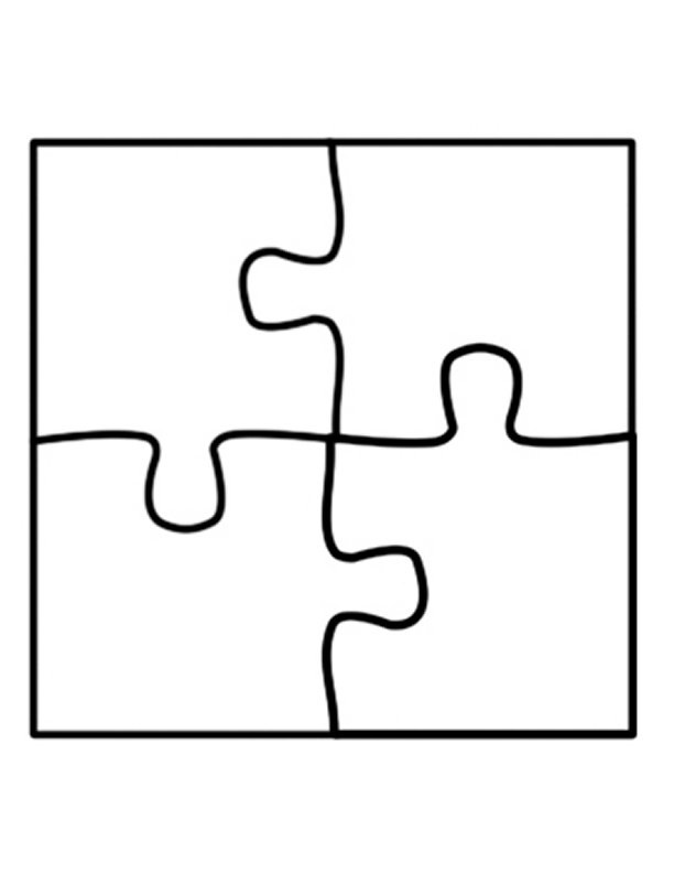 puzzle cut out template 5 piece puzzle template