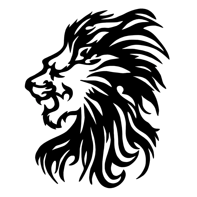 Line Drawing Lion Head : Lion line drawing cliparts