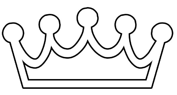 Crown Outline clip art - vector clip art online, royalty free ...