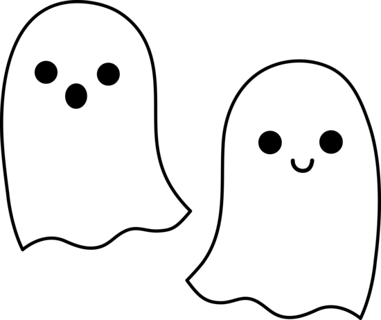 Cute Simple Halloween Ghosts - Free Clip Art - Cliparts.co