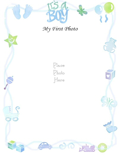 Gallery For > Baby Boy Page Border Clip Art