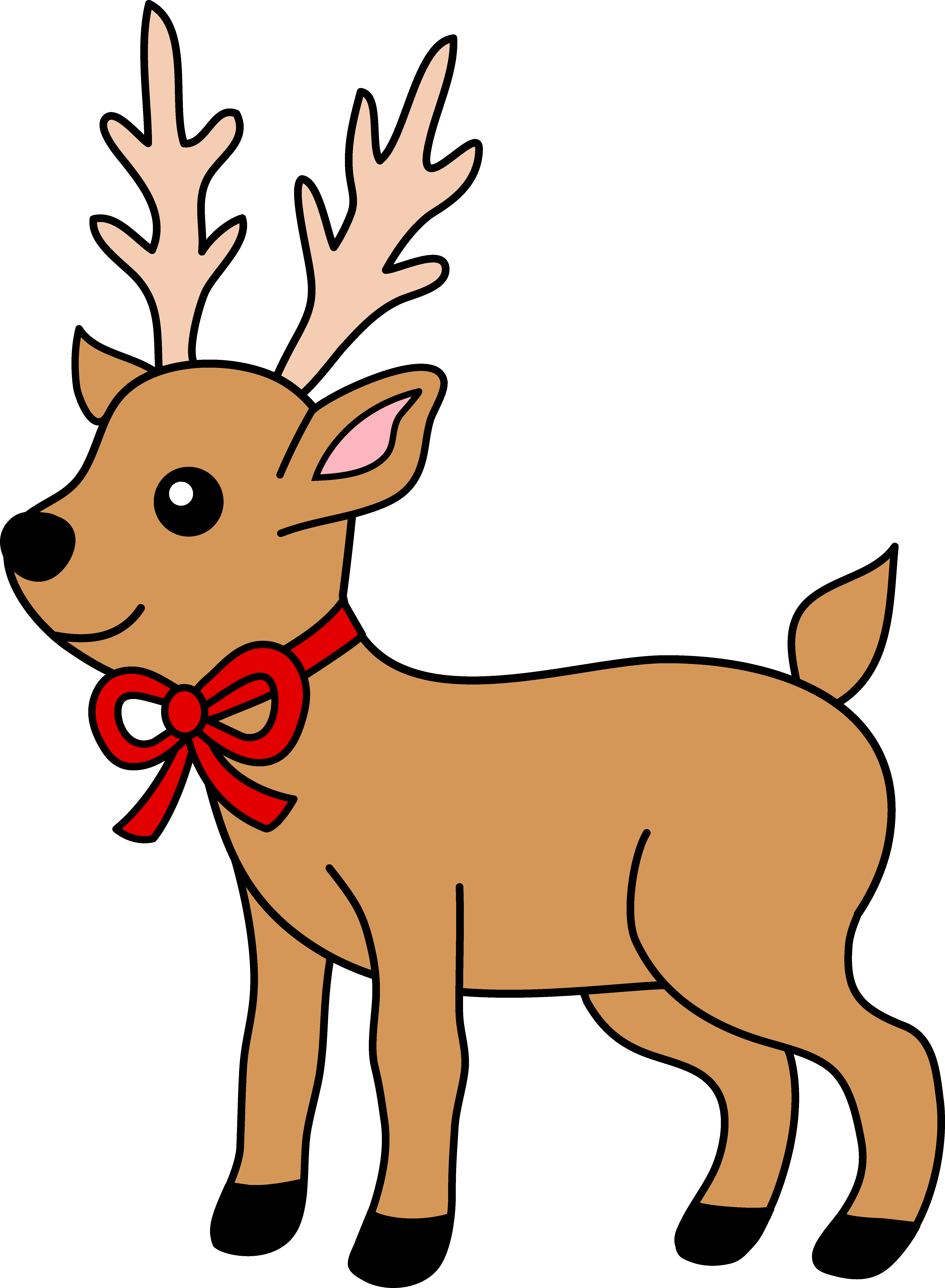 cool reindeer clipart rh worldartsme com clipart reindeer black and white clipart reindeer face