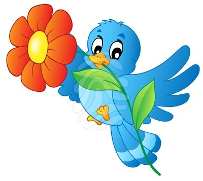 clipart flowers and birds - photo #10