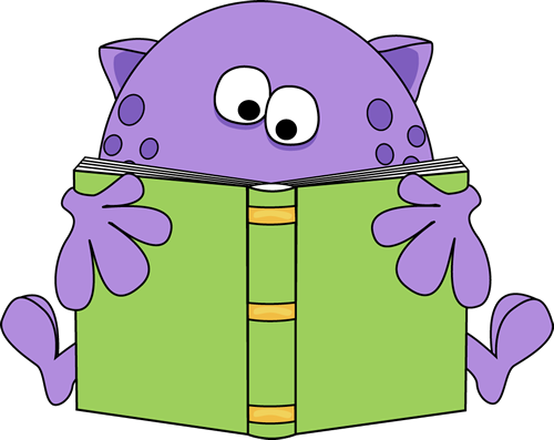 free clip art animals reading books - photo #24
