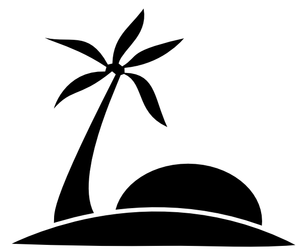 Beach Clip Art Black And White - Cliparts.co
