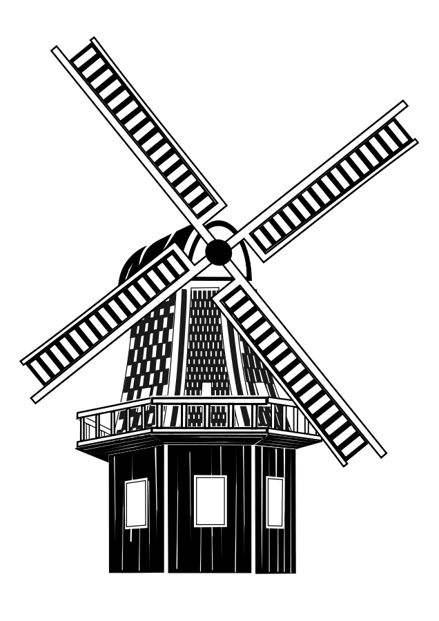 Wind Turbine Clipart on wind turbine