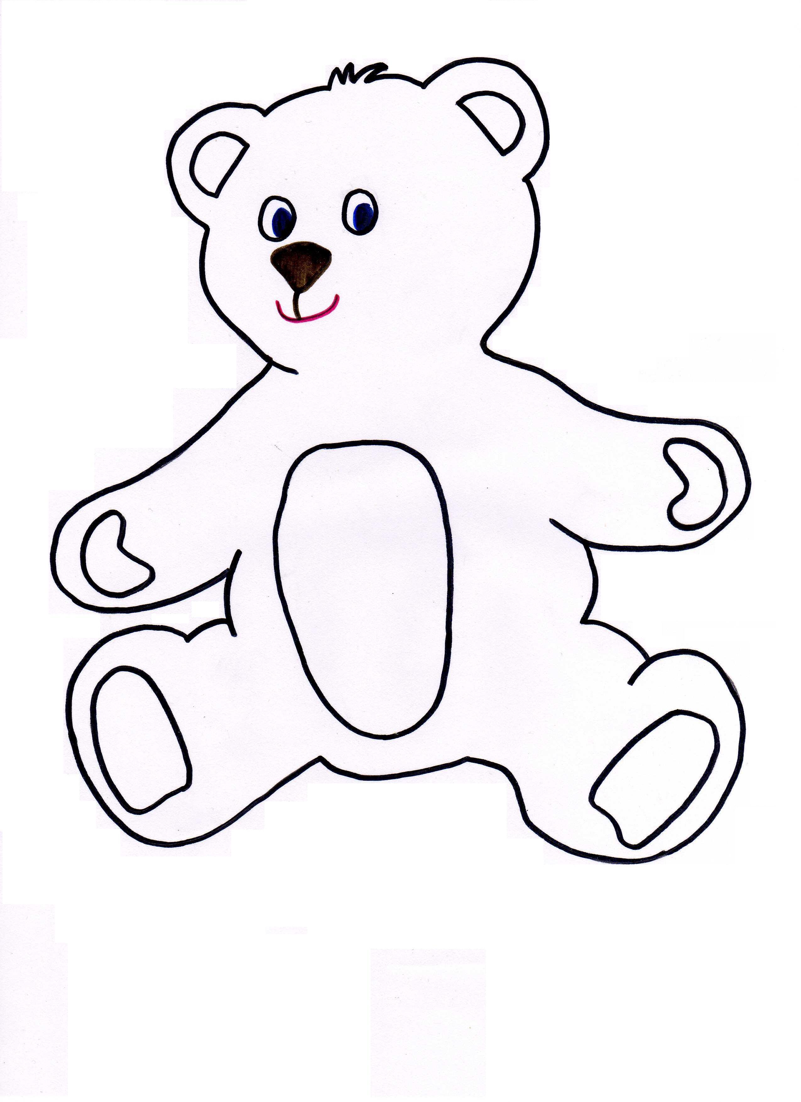 Teddy Bear Head Outline - Cliparts.co