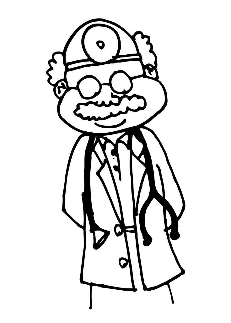 Doctors Office Coloring For Kids | Kids Coloring Pages | Pinterest