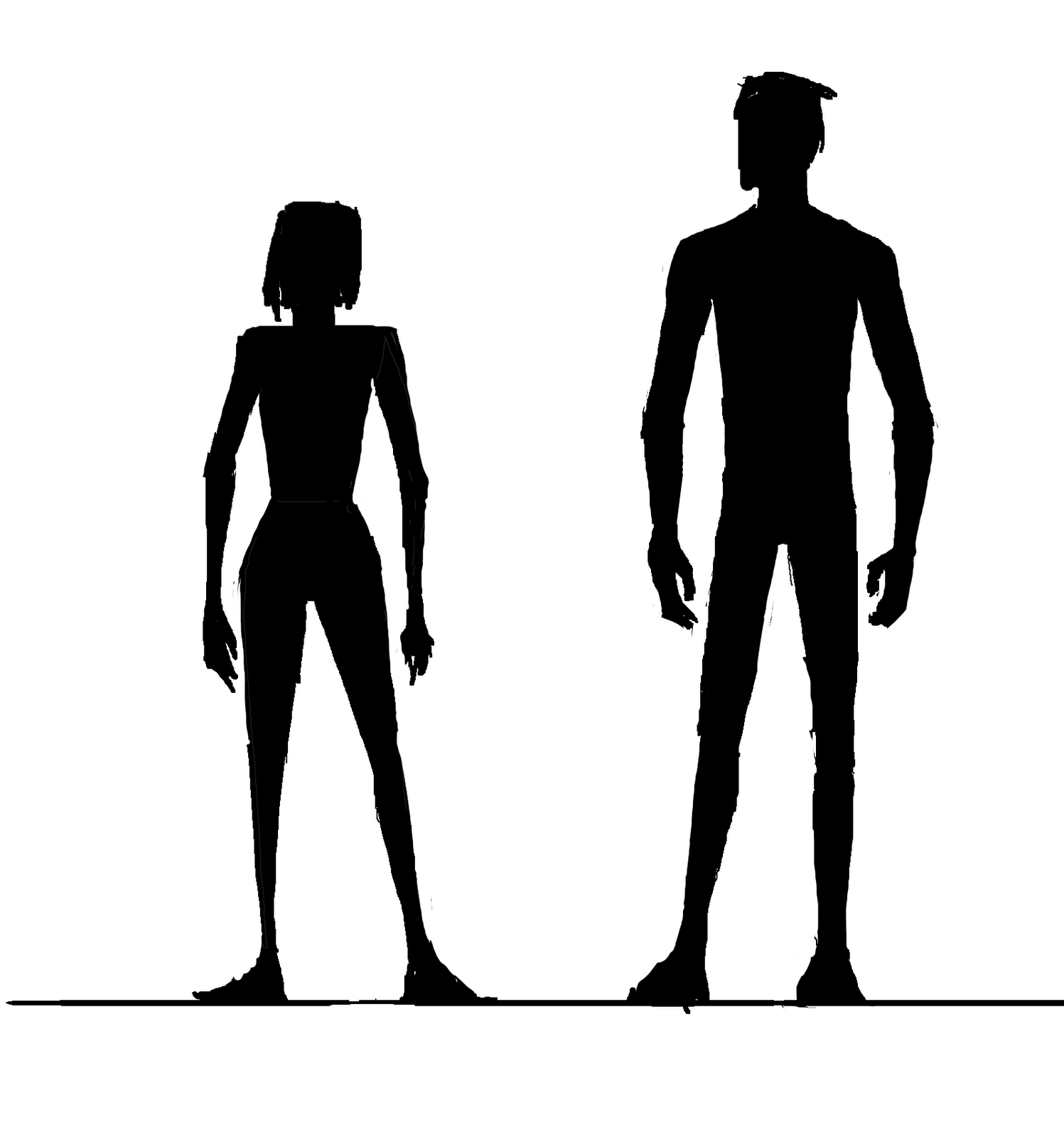 Images For > Woman And Man Silhouette Png