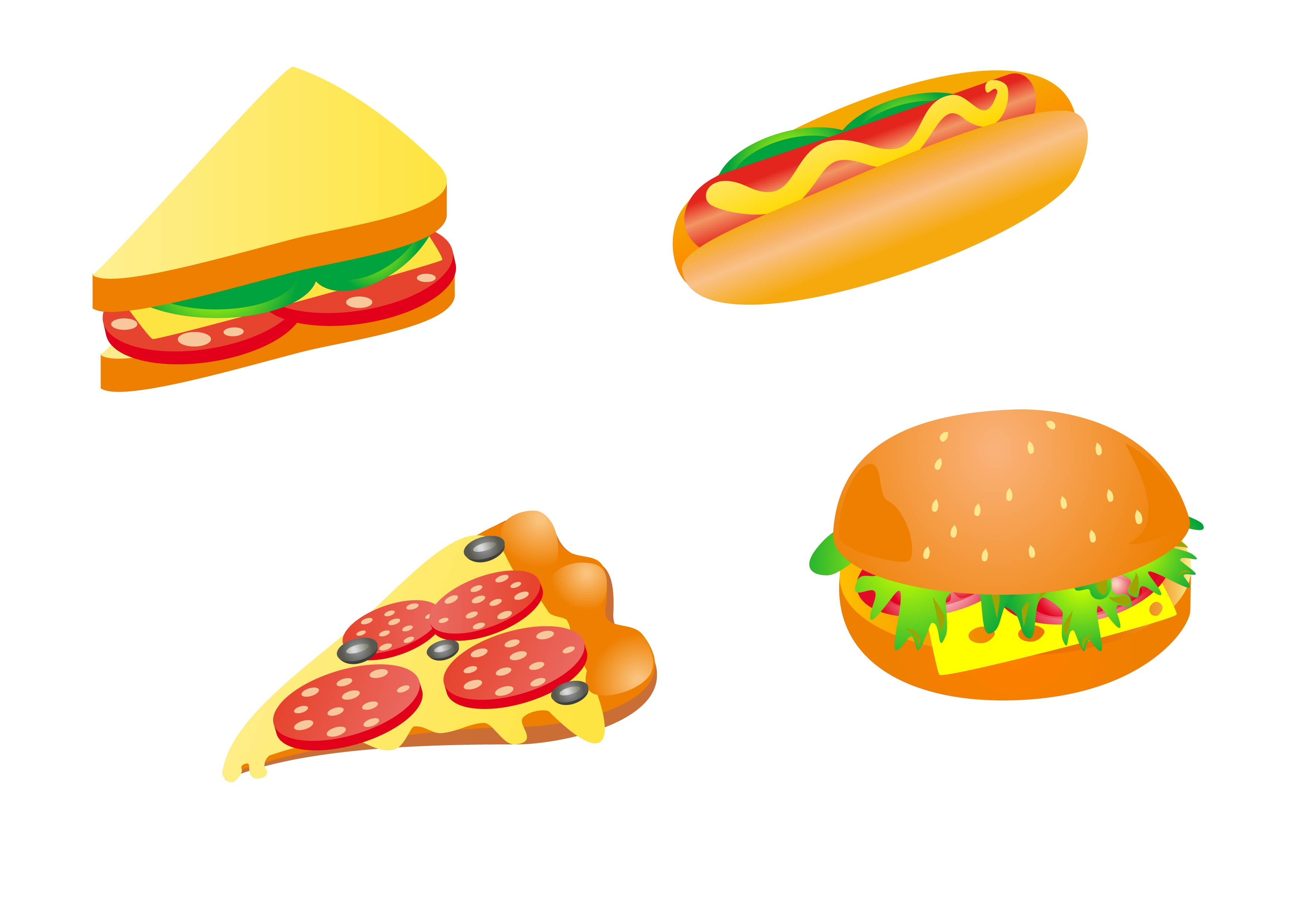 Cartoon Food - Cliparts.co
