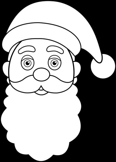 Santa Claus Outline Clipart