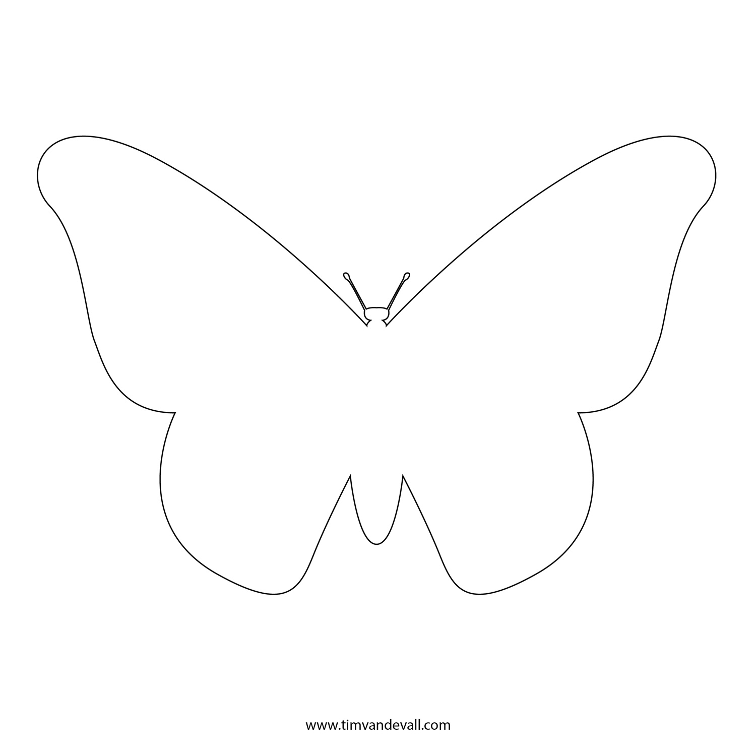 Free Butterfly Stencil Monarch Outline And Silhouette