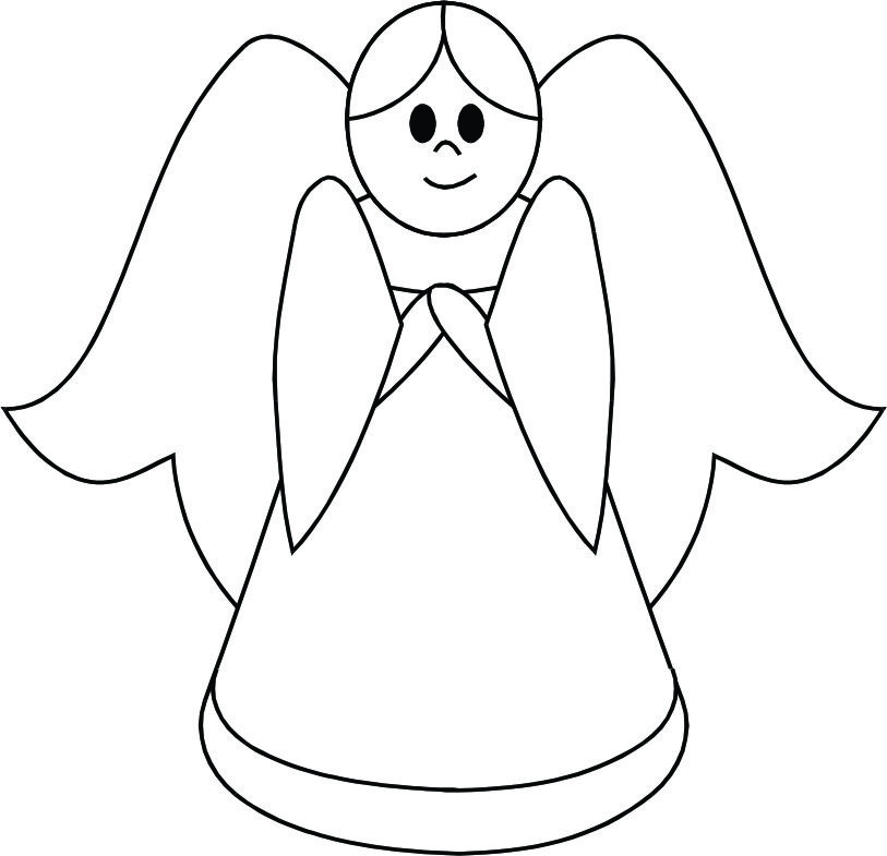 Xfig Line Drawing : Angel outline clip art cliparts