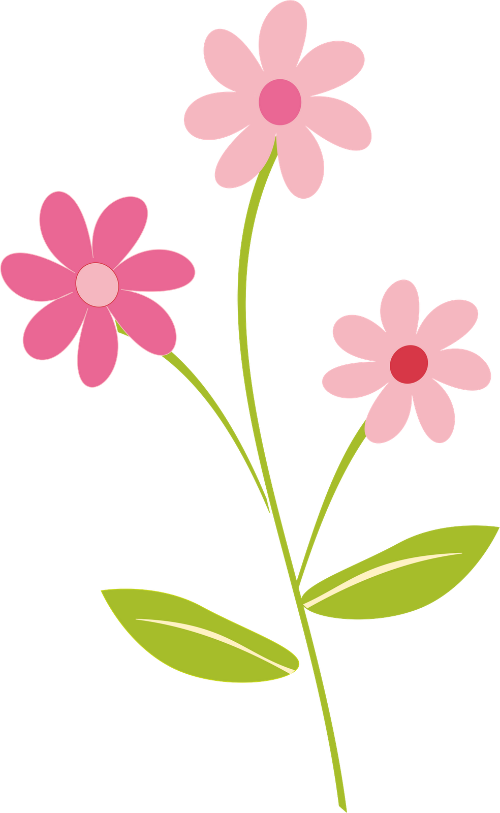 Simple Flower Border Clip Art