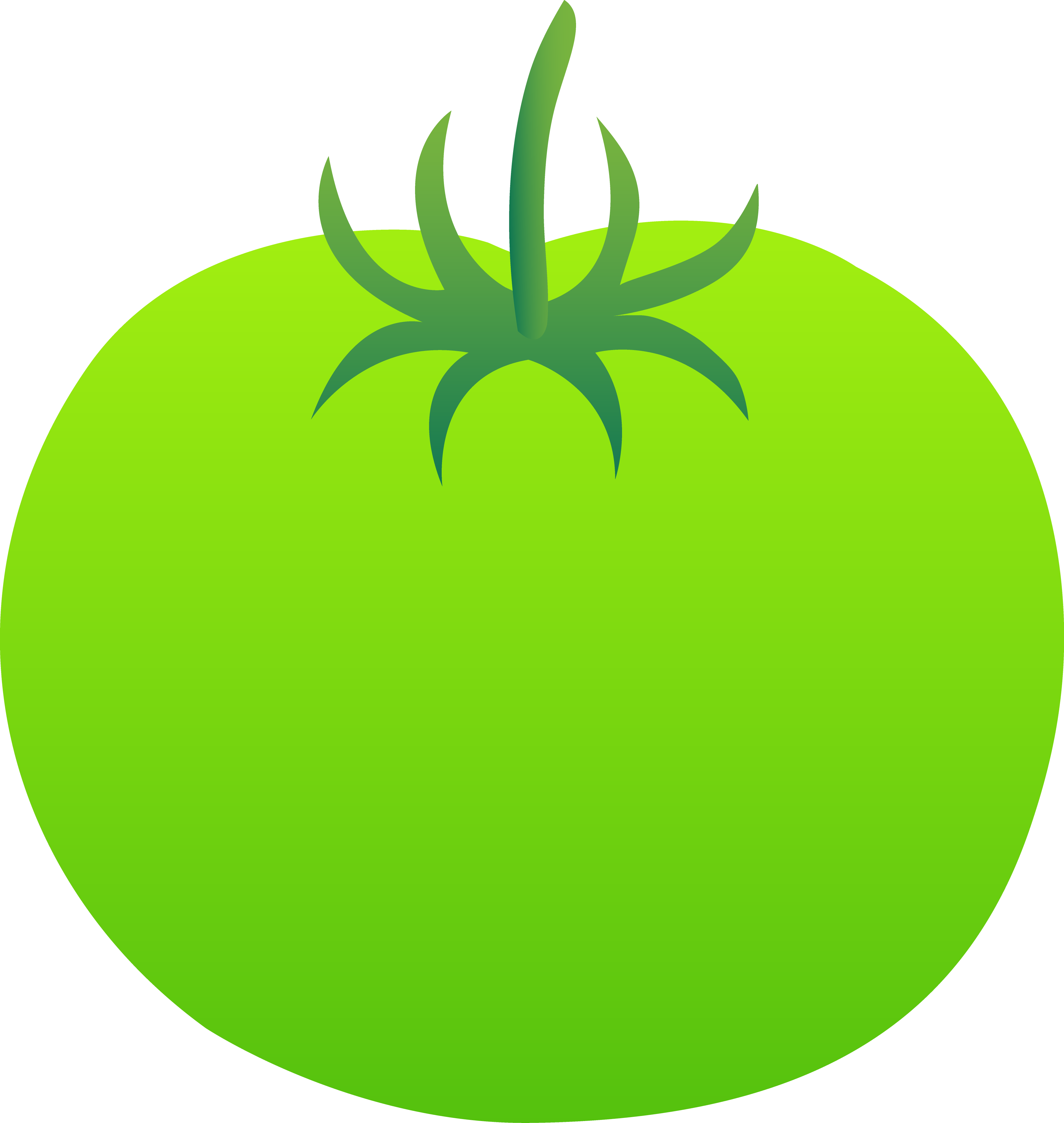 Whole Bright Green Tomato - Free Clip Art