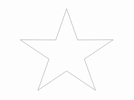 Large Star Template Printable Clipartsco – Star Template