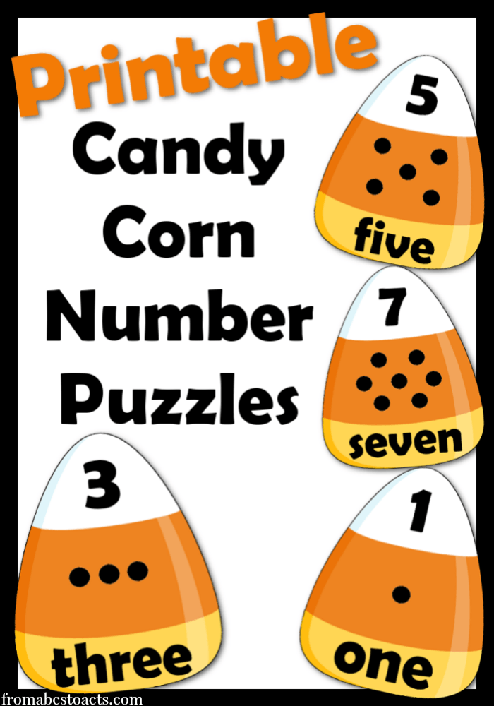 Candy Corn Math - Printable Number Puzzles - From ABCs to ACTs