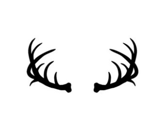 Clip Art Of Deer on stag head outline