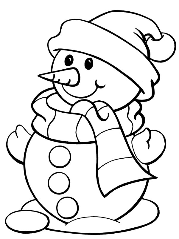 Snowman Coloring | Indesign Arts and Crafts