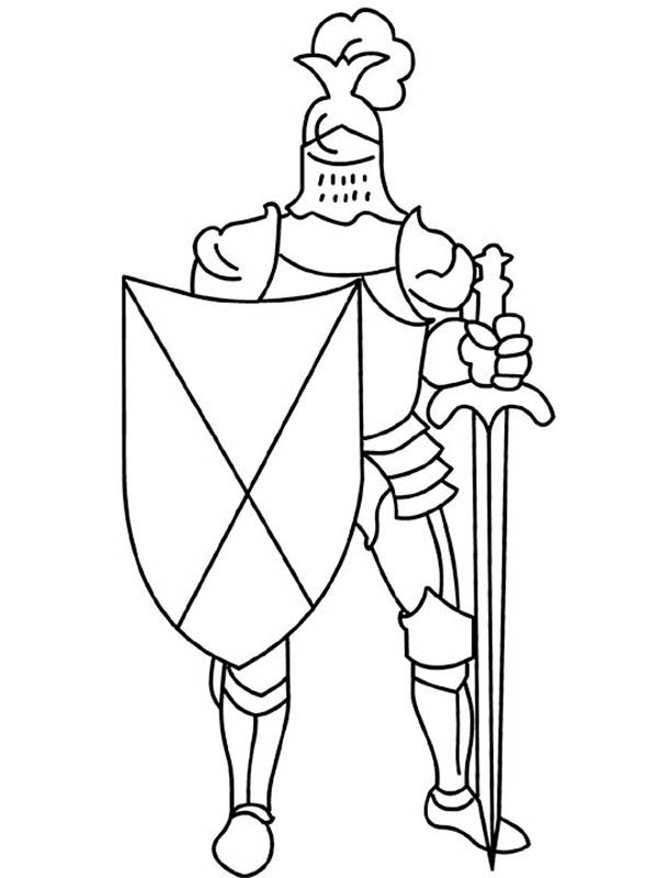 Free Coloring Pages Knights : Free coloring pages of knight shield