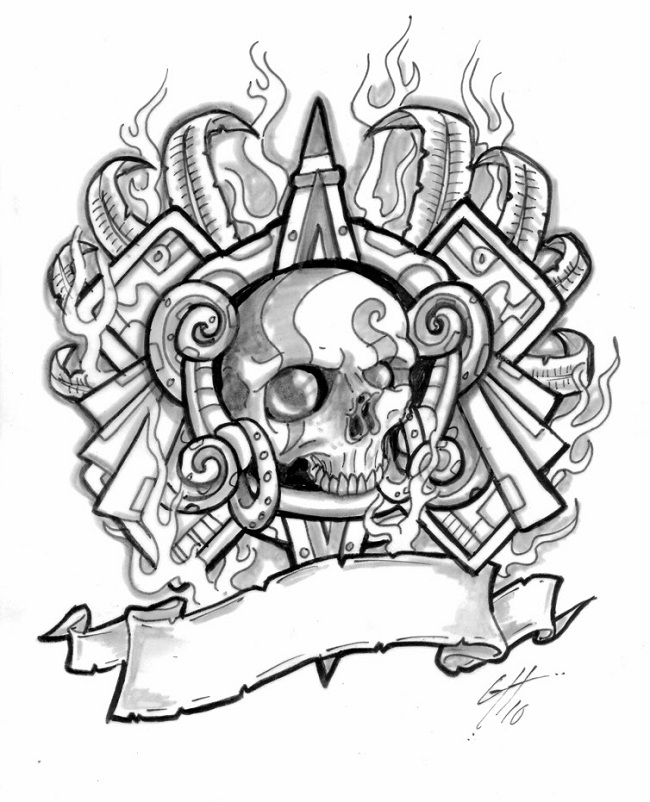 Tattoo Design Ideas basketball tattoo designs and ideas for men 2 Bulleyes Skull Tattoo Design Ideas Pc Iphone And Android Hd