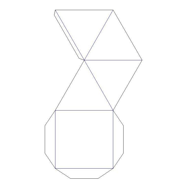 Пирамидка из бумаги своими руками 19