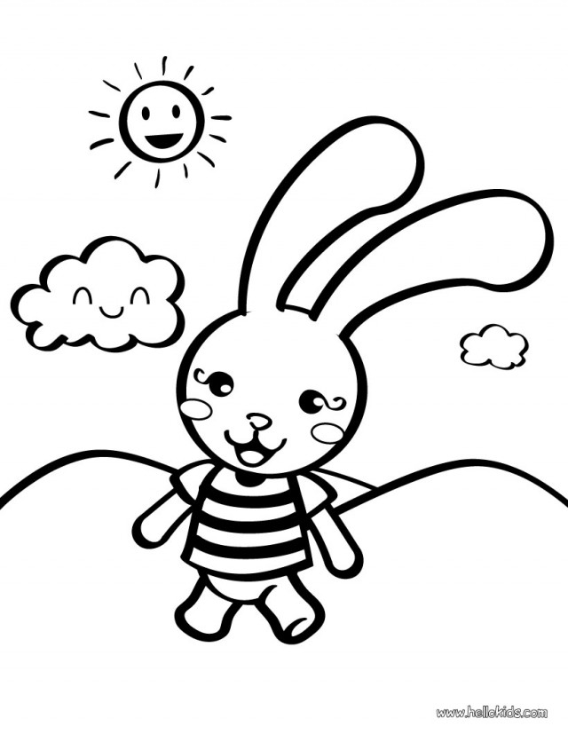 small bunny rabbit coloring pages | Bunny Outline - Cliparts.co