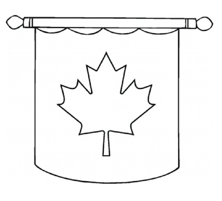 Canadian Flag Template Free