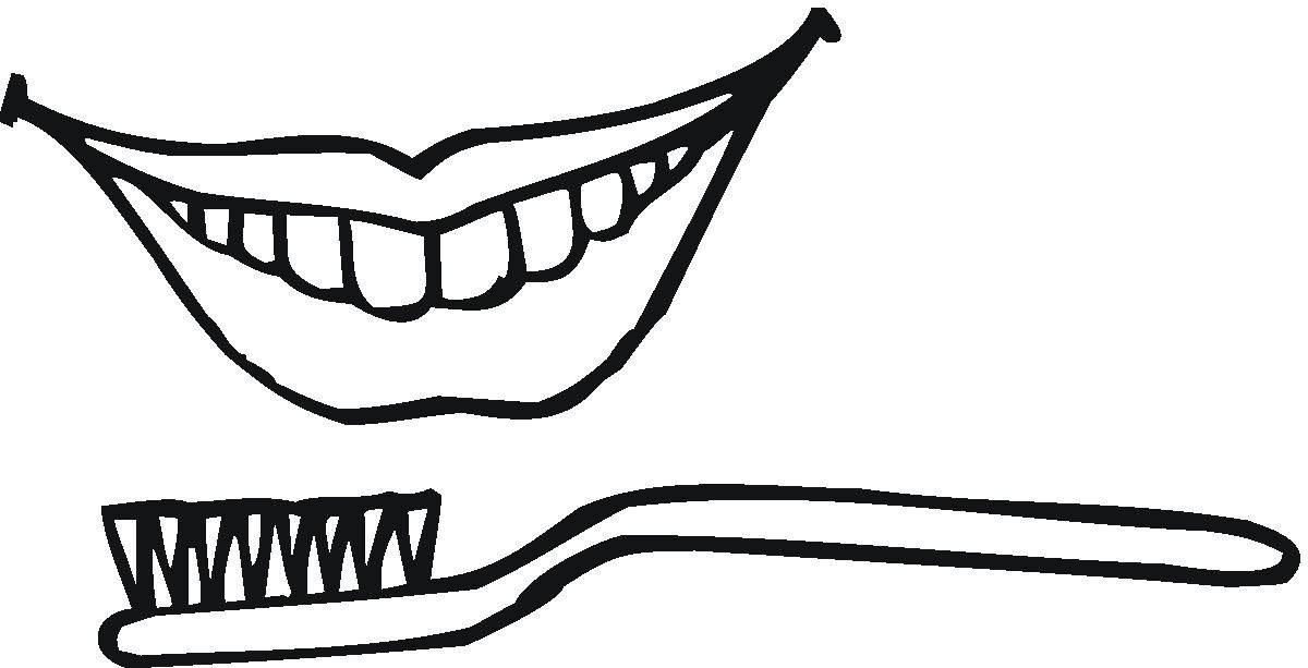 toothbrushing coloring pages - photo#19